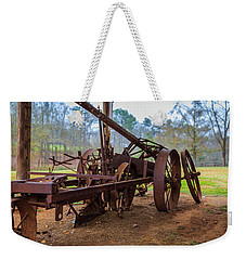 Weekender Tote Bag featuring the photograph Rusty Farming by Doug Camara