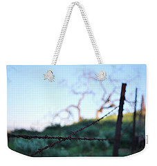 Weekender Tote Bag featuring the photograph Rusty Gate Rural Tree 2 by Matt Harang