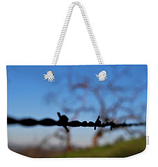 Weekender Tote Bag featuring the photograph Rusty Gate Rural Tree by Matt Harang