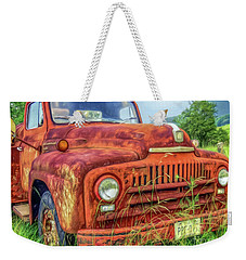 Rusty International Weekender Tote Bag by Marion Johnson