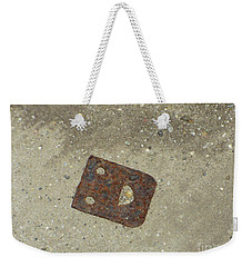 Rusty Metal Hinge Smiley Weekender Tote Bag