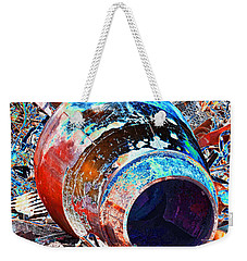 Rusty Metal Stuff II Weekender Tote Bag by Debbie Portwood