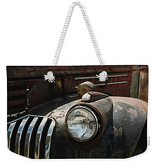 Weekender Tote Bag featuring the photograph Rusty Old Headlight  by Kim Hojnacki