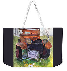 Rusty Old Relic Weekender Tote Bag