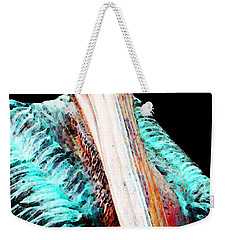 Rusty - Pelican Art Painting By Sharon Cummings Weekender Tote Bag by Sharon Cummings