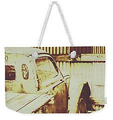 Rusty Pickup Garage Weekender Tote Bag