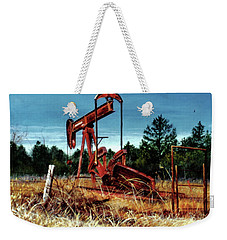 Rusty Pump Jack Weekender Tote Bag