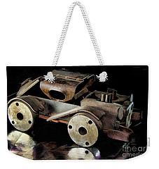 Rusty Rat Rod Toy Weekender Tote Bag by Wilma Birdwell