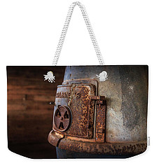 Weekender Tote Bag featuring the photograph Rusty Stove by Doug Camara
