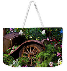 Rusty Truck In The Garden Weekender Tote Bag
