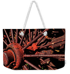 Rusty Wheel Weekender Tote Bag by Michelle Calkins