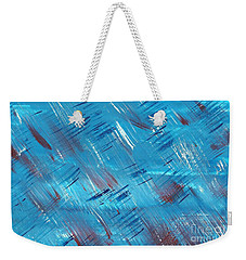 Rwb Blue With Red And White Weekender Tote Bag