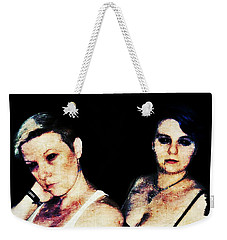 Weekender Tote Bag featuring the digital art Ryli And Alex 1 by Mark Baranowski