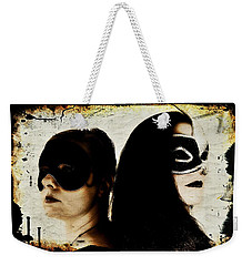 Weekender Tote Bag featuring the digital art Ryli And Corinne 1 by Mark Baranowski