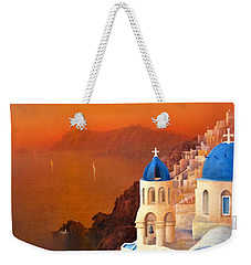 Santorini Weekender Tote Bag by Joe Gilronan