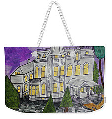 Weekender Tote Bag featuring the painting S M Stephenson Home by Jonathon Hansen