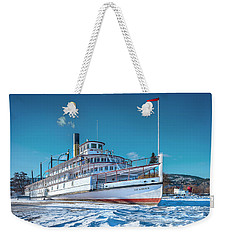 Weekender Tote Bag featuring the photograph S. S. Sicamous by John Poon