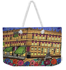 Weekender Tote Bag featuring the painting S.m Stephenson Hotel by Jonathon Hansen