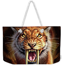 Sabertooth Weekender Tote Bag by Jerry LoFaro