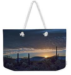 Weekender Tote Bag featuring the photograph Sabino Sunrise by Dan McManus