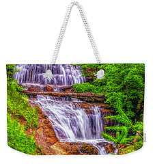 Weekender Tote Bag featuring the photograph Sable Falls by Nick Zelinsky