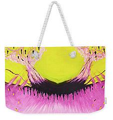 Weekender Tote Bag featuring the painting Sabotage by Cindy Lee Longhini