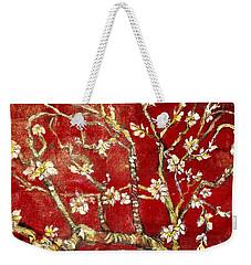 Sac Rouge Avec Fleurs D'almandiers Weekender Tote Bag by Belinda Low