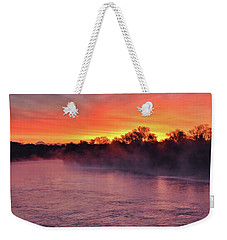 Sacramento River Sunrise Weekender Tote Bag