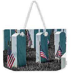 Weekender Tote Bag featuring the photograph Sacramento Valley Veterans Cemetary by Bill Gallagher