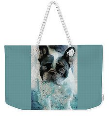 Weekender Tote Bag featuring the photograph Sacre Bleu  by Barbara Chichester