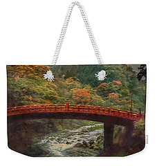 Weekender Tote Bag featuring the photograph Sacred Bridge by Hanny Heim