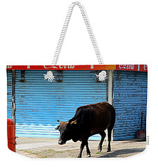 Weekender Tote Bag featuring the photograph Sacred Cow 1 by Randall Weidner