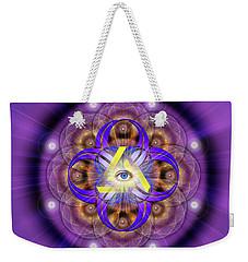 Sacred Geometry 639 Weekender Tote Bag by Endre Balogh