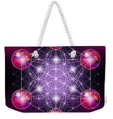 Weekender Tote Bag featuring the digital art Sacred Geometry Metatron by Alexa Szlavics