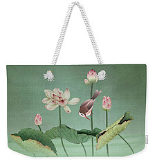 Sacred Lotus Flower Weekender Tote Bag