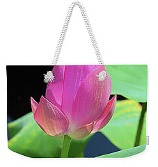 Sacred Pink Weekender Tote Bag by Inspirational Photo Creations Audrey Woods