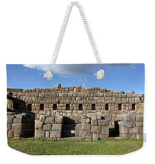 Weekender Tote Bag featuring the photograph Sacsaywaman Cusco, Peru by Aidan Moran