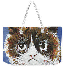 Sad Cat Weekender Tote Bag