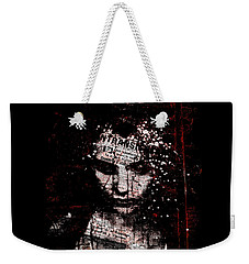 Weekender Tote Bag featuring the digital art Sad News by Marian Voicu