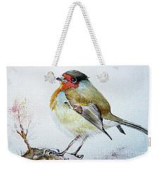 Sad Robin Weekender Tote Bag by Jasna Dragun