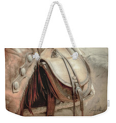 Saddle Bag Weekender Tote Bag
