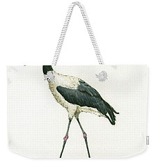 Saddle Billed Stork Weekender Tote Bag