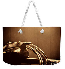 Saddle In A Barn Weekender Tote Bag by American West Legend By Olivier Le Queinec
