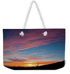 Saddle Road Sunset Weekender Tote Bag