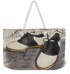 Weekender Tote Bag featuring the painting Saddle Shoes by Kelly Mills