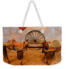 Saddle Town Weekender Tote Bag