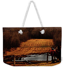 Saddle Up Enjoy The View Weekender Tote Bag by Kim Henderson