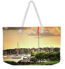 Weekender Tote Bag featuring the photograph Safe Harbor Bristol Ri by Tom Prendergast