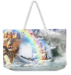 Weekender Tote Bag featuring the digital art Safe Harbor  by Dolores Develde