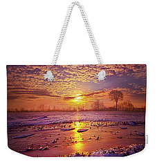 Weekender Tote Bag featuring the photograph Safely Secluded In A Far Away Land by Phil Koch